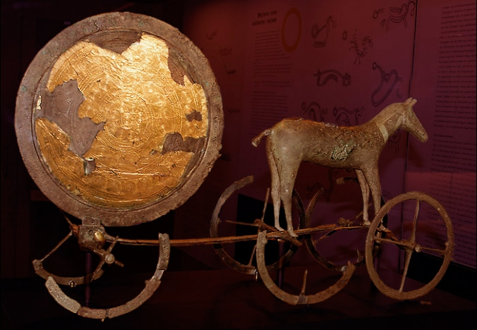 The Trundholm Sun Chariot - a possible representation of Nerthus? The Sun is personified as the feminine Sól in Scandinavian legend.