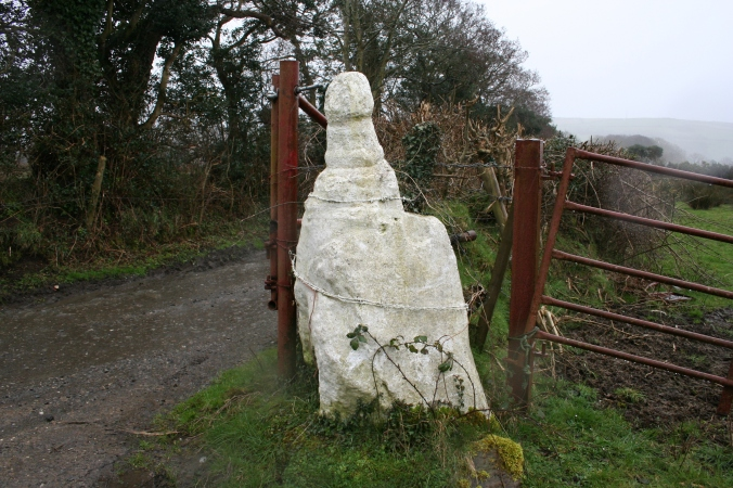 The 'Ballafreer phallus', Braddan, Isle of Man - known locally as the 'White Lady'!