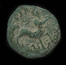 A centaur depicted on a coin of the semi-Romanised king Cunobelinos (1stC CE Britain)
