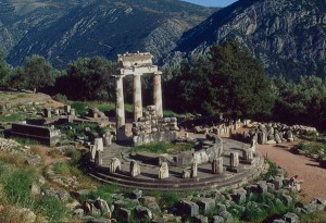Remains of the temple of Apollo at Delphi - note the passing resemblance to northern European (ie - Hyperborean) 'stone circles'...