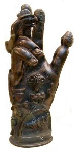 A 'Sabazios' votive hand - image from the British Museum.