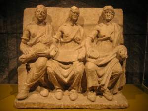 A Romano-Gallic 'matres' statue from Germany.