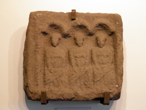 The same as depicted on a stela from the Roman fort at Housesteads, GB.