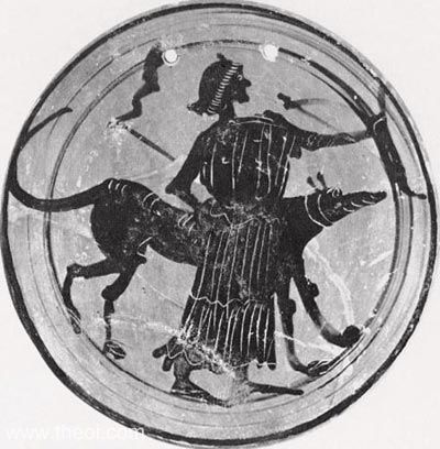 Ancient Greek Hekate or Artemis with her dog. Incidentally, Hekate was also frequently depicted as a triple-goddess!