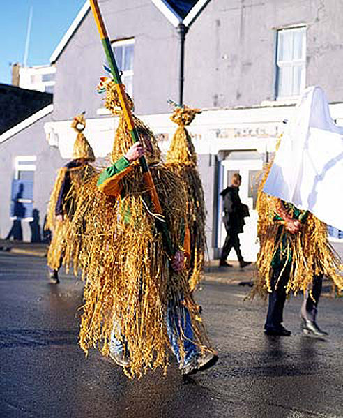 'Wren Boys' procession at Dingle, Co. Kerry, Ireland.