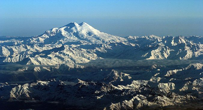 Mount Elbrus - the Omphalos of Indo-European myth. Photo: Jialiang Gao