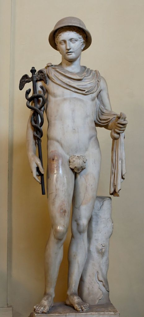 A statue of Hermes from (could you have guessed it?) the Vatican museum.