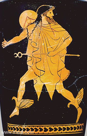 Hermes: archetypal night-flying daimon, trickster-god, and herald of dreams.