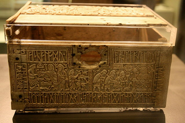 Wayland depicted on the front panel of the 8thC 'Franks Casket'.